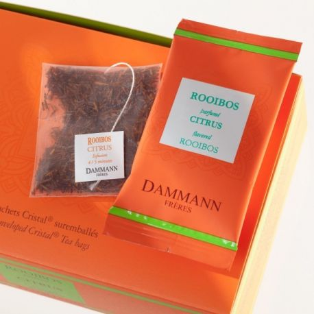 Dammann Frères - Rooibos Citrus - 4 boîtes de 24 sachets