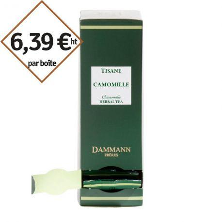 Infusion Camomille Dammann Frères - 4 boîtes de 24 sachets suremballés pour entreprise