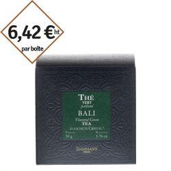 Thé vert Bali Dammann Frères - 6 boîtes de 25 sachets pour entreprise pas cher