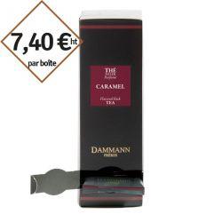 Thé noir Caramel Dammann Frères - 4 boîtes de 24 sachets suremballés pour entreprise pas cher