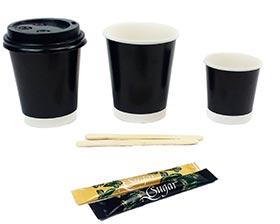 gobelet jetable biodégradables vegware - gobelets bio pour l'espace café en entreprise et professionnels